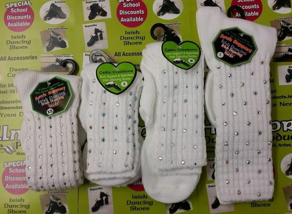 Diamonte Ankle Arch Support/seamless Toe Socks