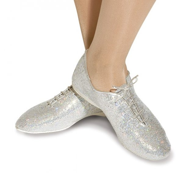 Katz Silver Glitter Jazz Shoe