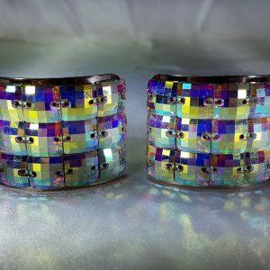 Ab Checker crystal buckles